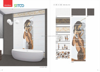 3d picture design bathroom wall tiles from SITCO