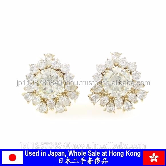 Shining good condition diamond 0.10 carat necklace from Japanese supplier