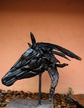 Horse head sculpture by Erawan design