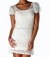 Handmade crochet Short Summer Dress exclusive Stylish Latest Design