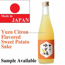 High quality japanese sake brands citron citrus yuzu flavored sweet potato shochu rice wine