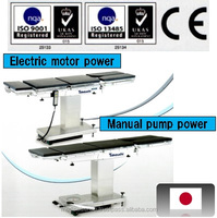 Medical equipment used in hospital, Japanese operating table with optional accessories, selectable electric or manual power