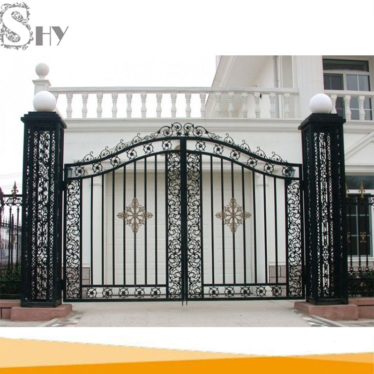 Factory Price House Wrought Iron Main Metal Gate Design - Buy Latest ...