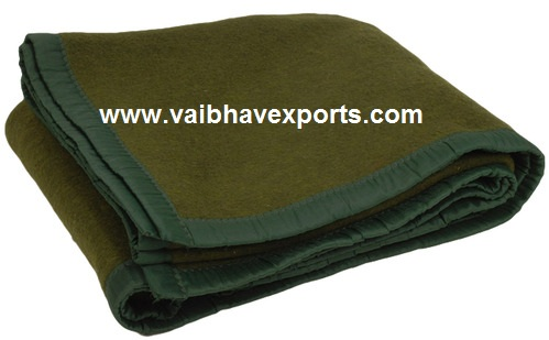 Thick Military wool Blankets from vaibhav exports