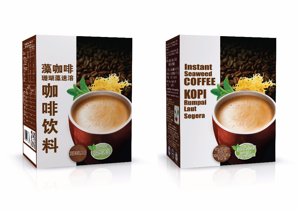 Instant Coffee / Instant White Coffee with Seaweed (Stevia Leaf / Sugar Free) Provide OEM