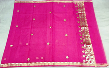 kota cotton silk designer with gotta patti work saree