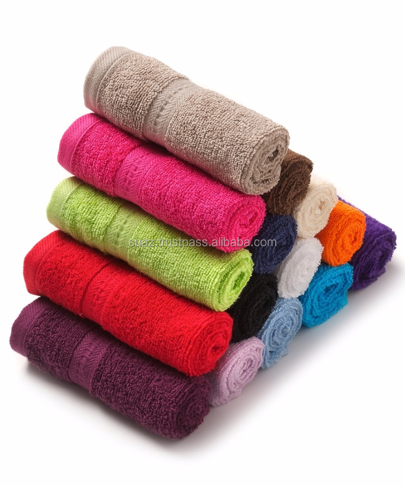 Luxury Face towels , face towel price , Face towels size , Floral Bath Towels , 40 x 60 cm yarn dyed terry Tea Towels ,