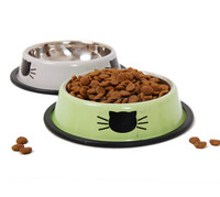 Pet dog cat Bowl Puppy Drinking Collapsible Easy Taking Feeding Water Feeder Travel Bowl 2colors