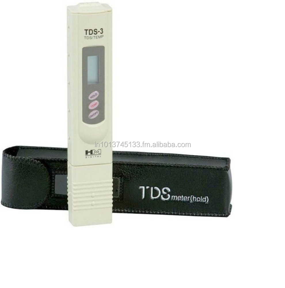 HM TDS Meter / Water Purity Tester with Leather Carry Case & Temperature Display