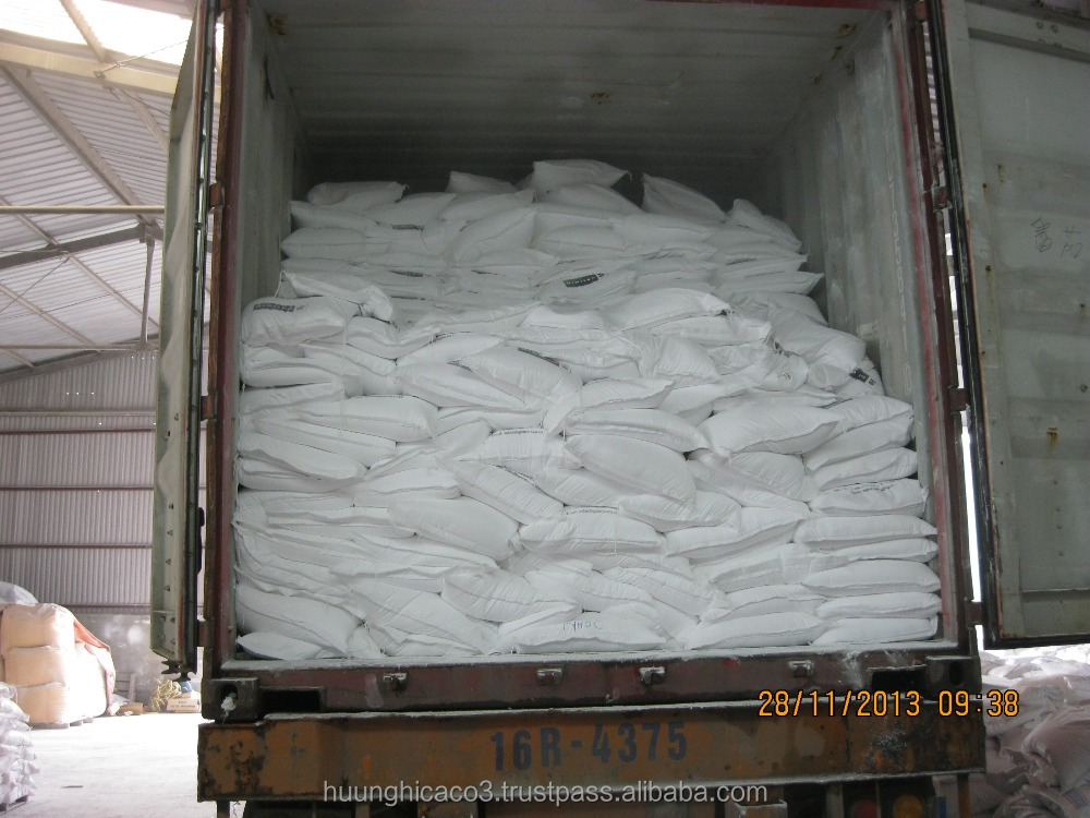 Coated Calcium carbonate from Viet Nam with high whiteness used in cable, pvc pipe, tube, hose, rubber min 98.5% CACO3