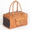 NEW GENUINE VEGETABLE TANNED LEATHER PET CARRIER BAG