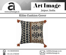 2017 Hot selling decent look designer hand woven woolen textured fashinable kilim style cushion cover