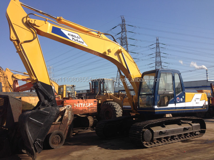 secondhand Kobelco SK200-3 excavator good condition for Shanghai sale