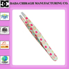 stainless steel cute eyebrow tweezers slanted