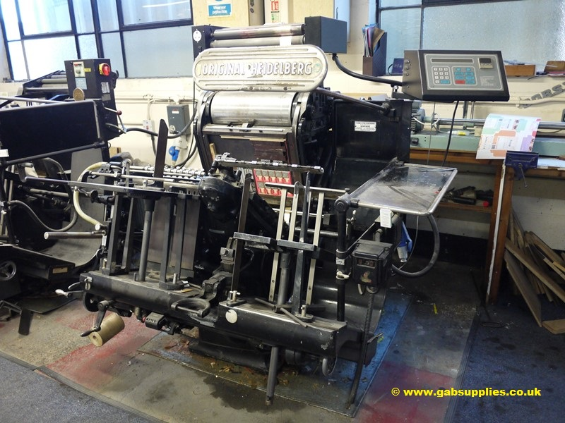 Heidelberg Platen 13 x 18 with hot foiling attachment