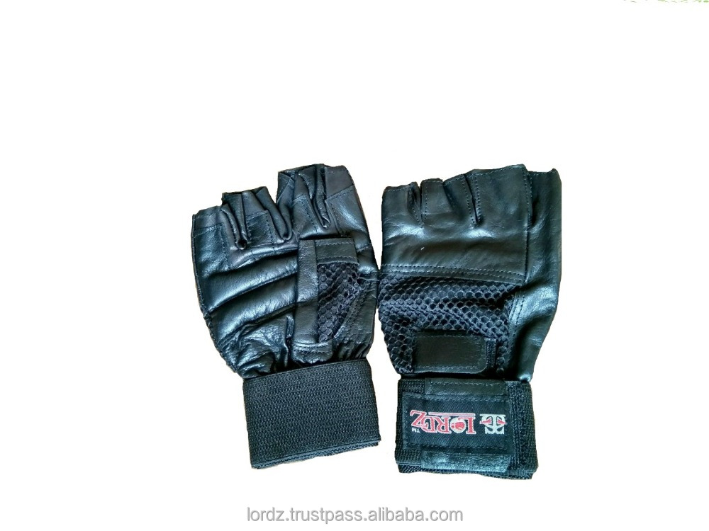 Weight Lifting Gloves Made In Top Quality Leather Material Manufacturer Gym Gloves Finger Cut Gloves Proper Fit & Grip