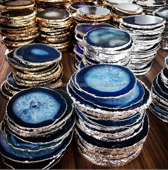 Agate Coasters Electroplated