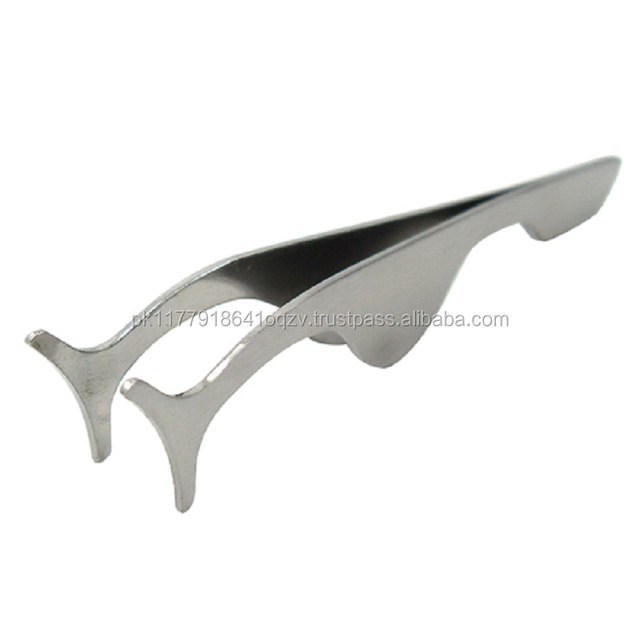 Amp curved Tweezers stainless steel for Eyelash Extensions