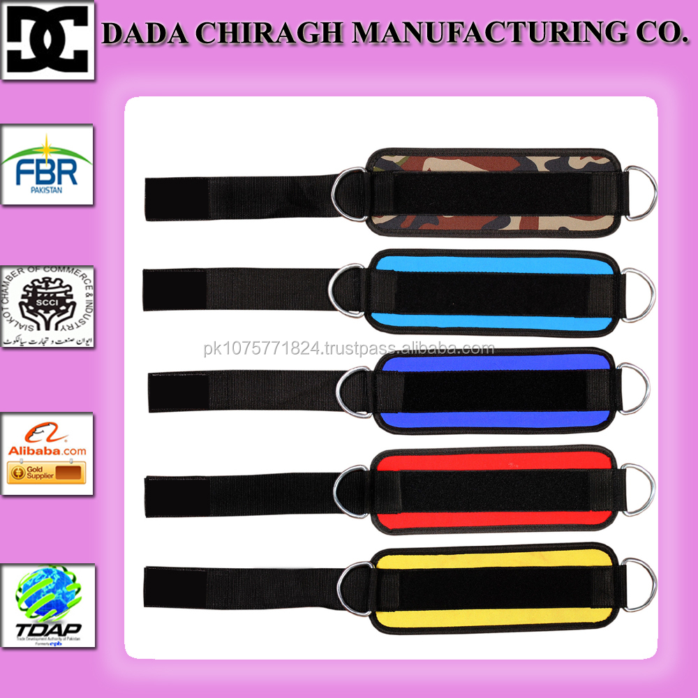 ANKLE STRAPS FOR CABLE GYM MACHINE WOOL PADDING