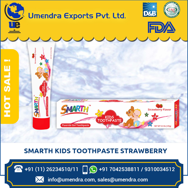 Superior Brand Selling Smarth Kids Toothpaste Strawberry at Low Rate