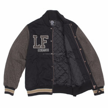Woman Winter Custom Baseball Varsity Jacket / Embroidery College Jacket Bomber Jacket at Noki Wears