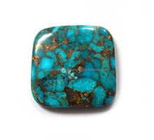 Blue Mohave Turquoise Square Cabochon Loose Gemstone