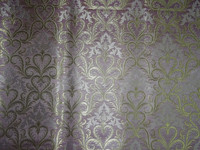 Heavy Brocade Cream,Light Pink & Metallic Gold colour
