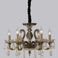 VPL 090 6 LIGHTS CRYSTAL CHANDELIER