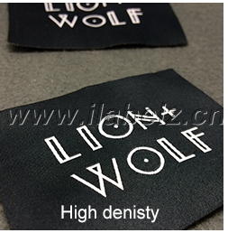 damask custom garment woven label for clothing