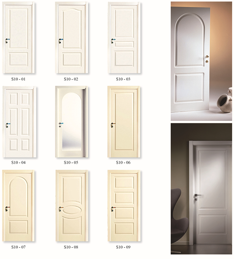 6 Panel White Primed Swing Mdf Interior Doors Buy Mdf Interior Doors Product On