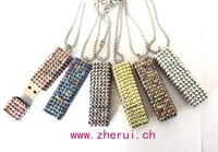 Various designs bling Rhinestone metal 1GB flash memory usb