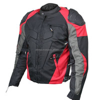 Mens Red Black Waterproof Armored Textile Sport Motorcycle Jacket 1858