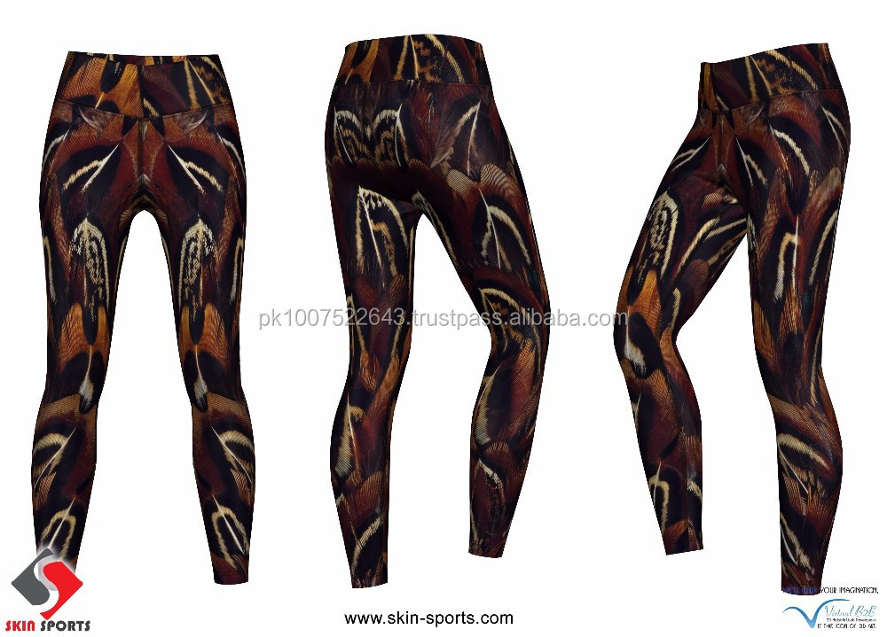 PEACOCK REFLECTED CUSTOM SUBLIMATED WOMEN LEGGINGS
