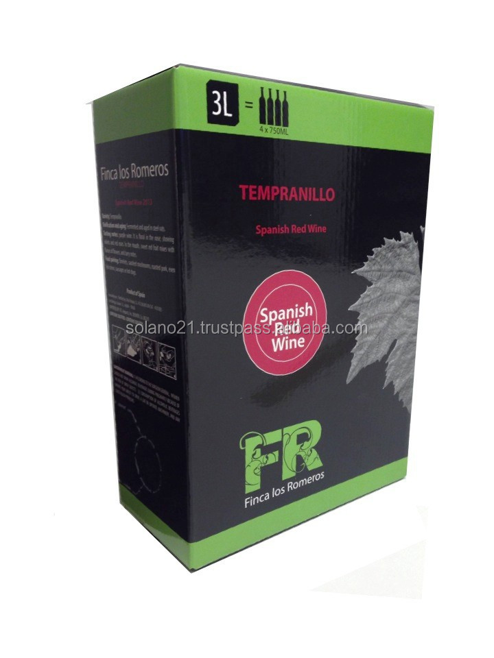 BAG IN BOX 3L SPANISH RED WINE FINCA LOS ROMEROS