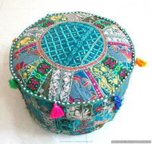 wholesale Indian Pouf Ottoman in many colors great for home hotel office decor
