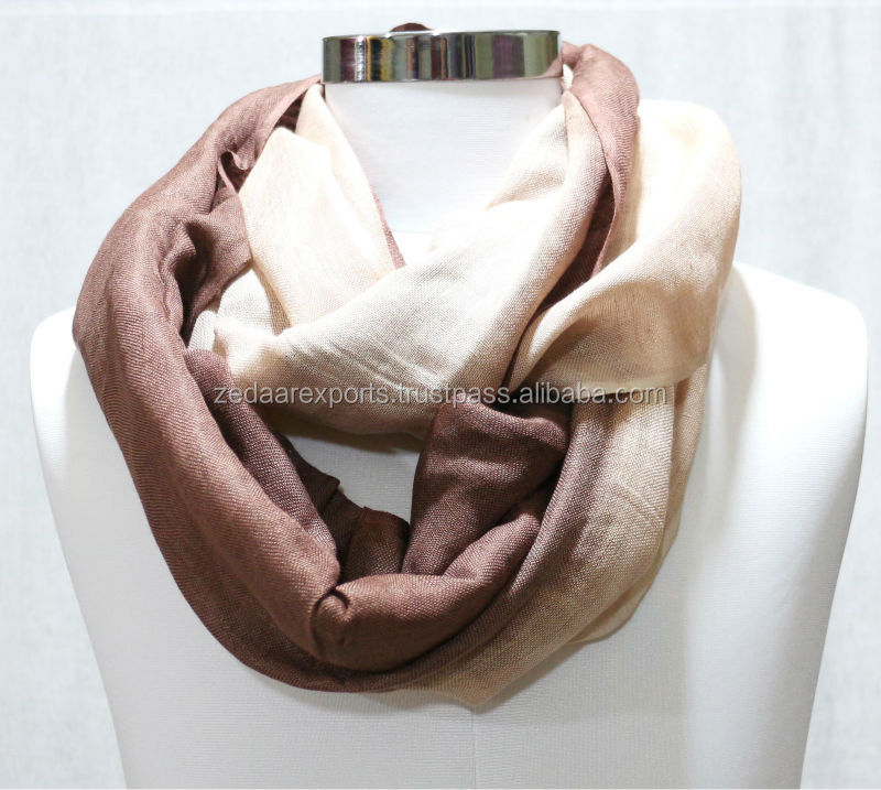 linen shaded loop scarf