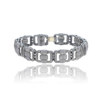 Link Chain Bracelet Pave Diamond 14K Yellow Gold Designer Fashion Diamond Jewelry Manufacturer