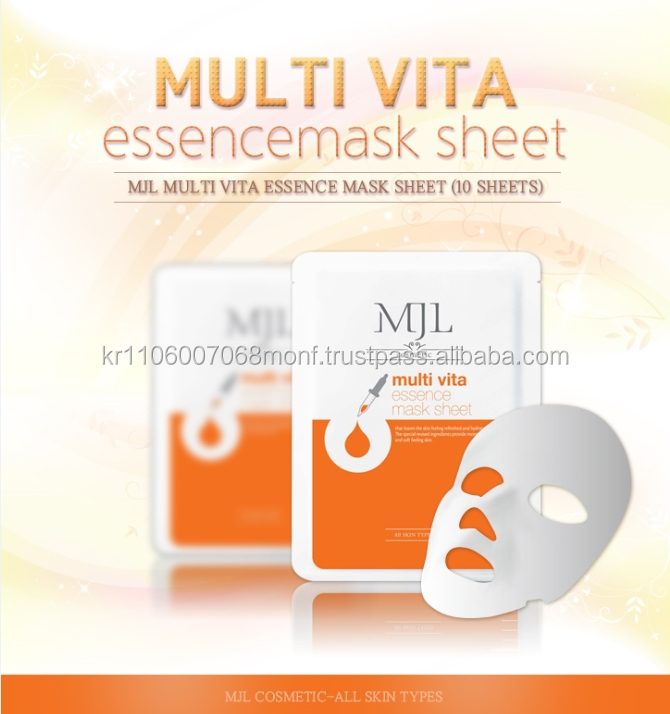 [Korea]MJL Multi vita essence mask sheet, Korean brand, , moisturizing and nourishing, smooth skin