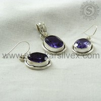 Hot Selling High Quality Silver Sets, Alexandrite Silver Jewelry 3SCT2003-2