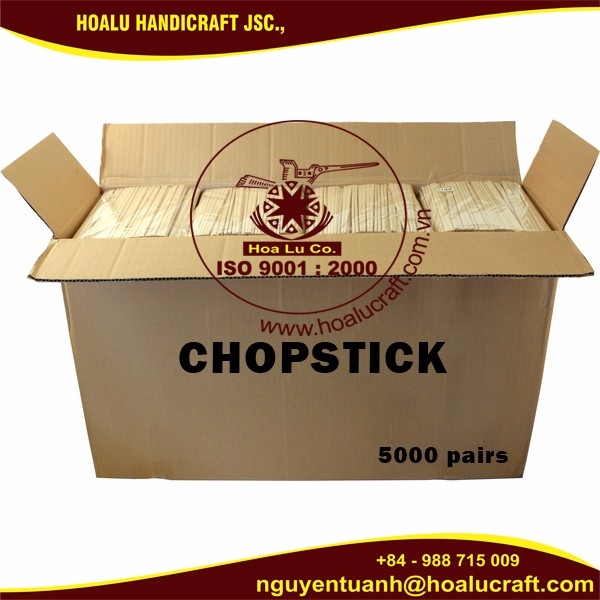 Japanese style disposable wooden chopsticks size 4.3mm