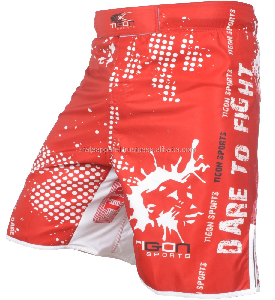 Handsome color sublimation printing mma short, muay thai short for men/ AT STATE APPAREL