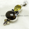 Unique Design 925 Sterling Silver Multi Stone Pendant Wholesaler Natural Gemstone Silver Jewelry Online