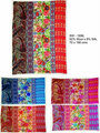 Wool x Silk Printed Multi Colour Silk Shawl for Fashion & Nackware