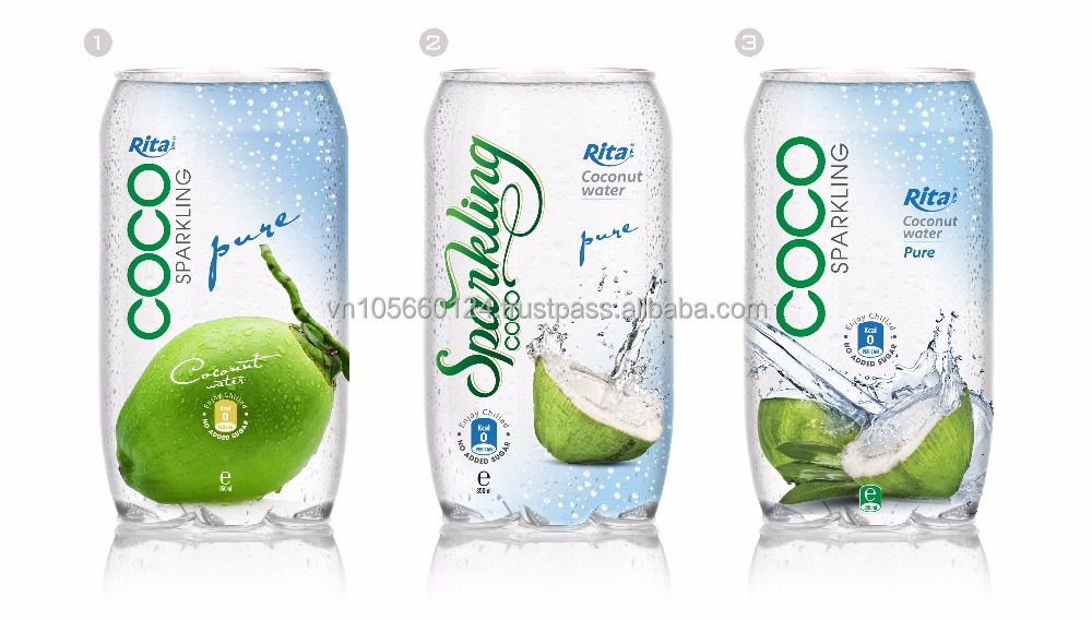 Viet Nam Sparkling Coconut water 350ml Pet Canned