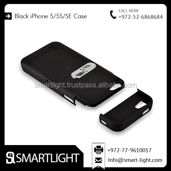 Popular Brand Selling Black Battery Electric Lighter Case for iPhone 5/5s/SE