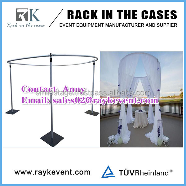 Round pipe and drape wedding tent ,circle pipe and drape