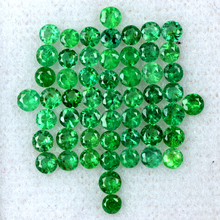 2.95 Cts Natural Green Emerald Diamond Cut Round Zambia Untreated 2 upto 2.5 mm