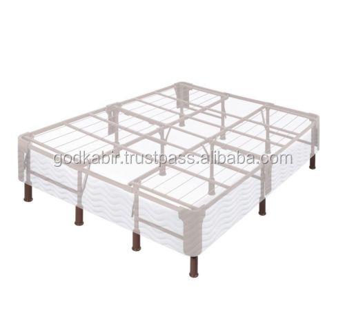 "Beautiful unique design 4""Solid Iron Frame FULL SIZE For Home Decor Bed"