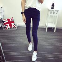 2016 New Slanting Pocket Washed Leggings Jeans for Women