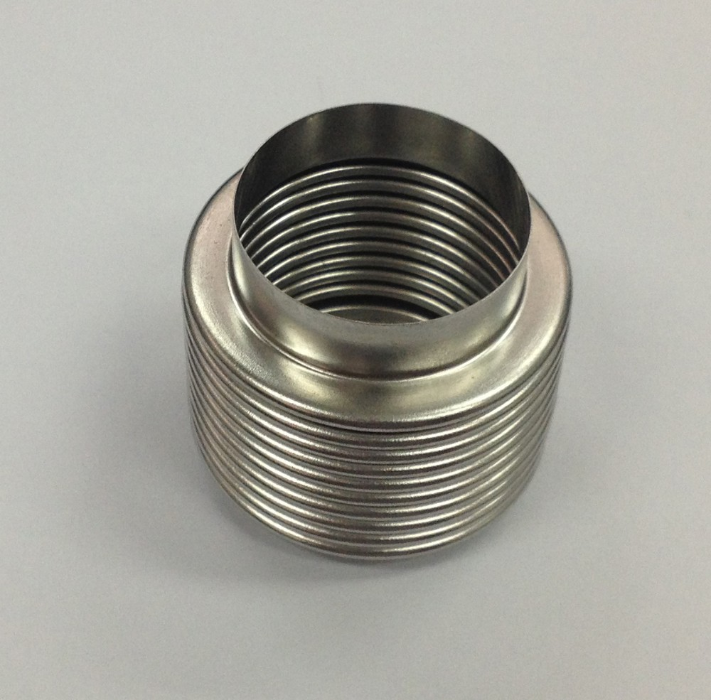 Stainless flexible expansion bellow joint view